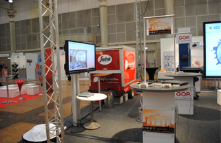 MEET BERLIN exhibition stand at the stb marketplace in Hannover